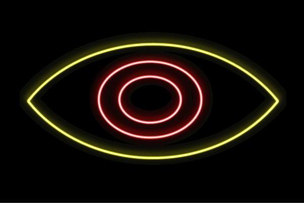 【ネオン】目【2】【め】【アイ】【瞳】【ひとみ】【片目】【顔】【アイコン】【ネオンライト】【電飾】【LED】【ライト】【サイン】【neon】【看板】【イルミネーション】【インテリア】【店舗】【ネオンサイン】【アメリカン雑貨】【おしゃれ】【かわいい】