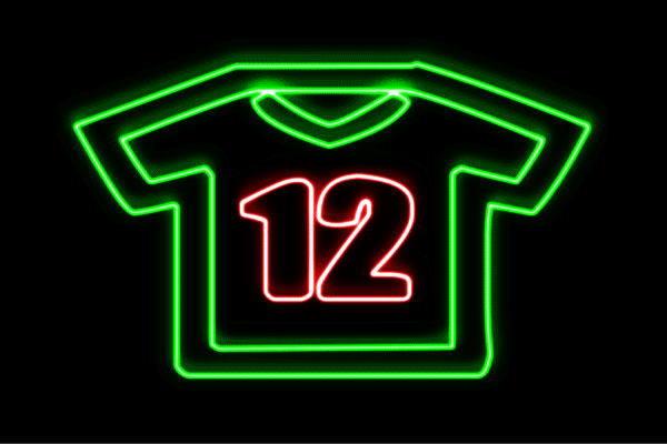 【ネオン】ユニフォーム【シャツ】【ふく】【服】【衣類】【スポーツ】【アイコン】【イラスト】【ネオンライト】【電飾】【LED】【ライト】【サイン】【neon】【看板】【イルミネーション】【インテリア】【店舗】【ネオンサイン】【アメリカン雑貨】【おしゃれ】
