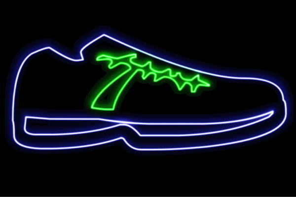 【ネオン】靴【くつ】【クツ】【シューズ】【スポーツ】【アイコン】【イラスト】【ネオンライト】【電飾】【LED】【ライト】【サイン】【neon】【看板】【イルミネーション】【インテリア】【店舗】【ネオンサイン】【アメリカン雑貨】【おしゃれ】【かわいい】