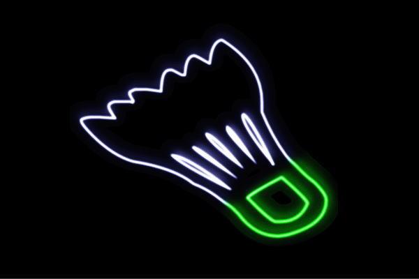 【ネオン】バドミントン【シャトル】【羽】【バトミントン】【スポーツ】【アイコン】【イラスト】【ネオンライト】【電飾】【LED】【ライト】【サイン】【neon】【看板】【イルミネーション】【インテリア】【店舗】【ネオンサイン】【アメリカン雑貨】【かわいい】