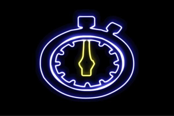 【ネオン】ストップウォッチ【時計】【とけい】【ウォッチ】【スポーツ】【アイコン】【マーク】【ネオンライト】【電飾】【LED】【ライト】【サイン】【neon】【看板】【イルミネーション】【インテリア】【店舗】【ネオンサイン】【アメリカン雑貨】【かわいい】