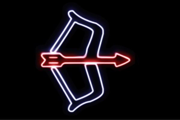 【ネオン】アーチェリー【弓】【弓矢】【スポーツ】【アイコン】【マーク】【ネオンライト】【電飾】【LED】【ライト】【サイン】【neon】【看板】【イルミネーション】【インテリア】【店舗】【ネオンサイン】【アメリカン雑貨】【おしゃれ】【かわいい】