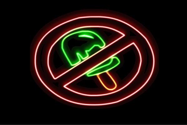 【ネオン】飲食禁止【2】【禁止】【アイス】【飲食】【禁止】【マーク】【ロゴ】【アイコン】【イラスト】【電飾】【LED】【ライト】【サイン】【neon】【看板】【イルミネーション】【インテリア】【店舗】【ネオンサイン】【アメリカン雑貨】【かわいい】【おしゃれ】