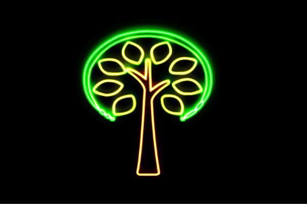 【ネオン】ツリー【14】【リーフ】【葉っぱ】【tree】【木】【き】【森】【山】【アイコン】【ネオンライト】【電飾】【LED】【ライト】【サイン】【neon】【看板】【イルミネーション】【インテリア】【店舗】【ネオンサイン】【アメリカン雑貨】【おしゃれ】