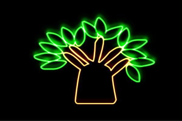 【ネオン】ツリー【42】【リーフ】【葉っぱ】【tree】【木】【き】【森】【山】【アイコン】【ネオンライト】【電飾】【LED】【ライト】【サイン】【neon】【看板】【イルミネーション】【インテリア】【店舗】【ネオンサイン】【アメリカン雑貨】【おしゃれ】