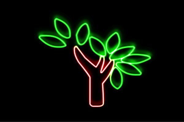 【ネオン】ツリー【43】【リーフ】【葉っぱ】【tree】【木】【き】【森】【山】【アイコン】【ネオンライト】【電飾】【LED】【ライト】【サイン】【neon】【看板】【イルミネーション】【インテリア】【店舗】【ネオンサイン】【アメリカン雑貨】【おしゃれ】
