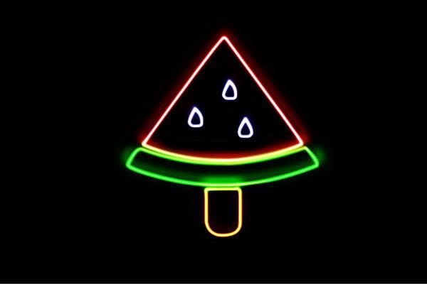 【ネオン】スイカアイス【スイカ】【アイスクリーム】【アイスキャンディー】【ICE CREAM】【アイス】【アイコン】【ネオンライト】【電飾】【LED】【ライト】【サイン】【neon】【看板】【イルミネーション】【インテリア】【店舗】【ネオンサイン】