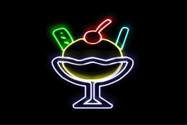 【ネオン】パフェ【2】【アイスクリーム】【ICE CREAM】【アイス】【アイコン】【デザート】【ネオンライト】【電飾】【LED】【ライト】【サイン】【neon】【看板】【イルミネーション】【インテリア】【店舗】【ネオンサイン】【アメリカン雑貨】