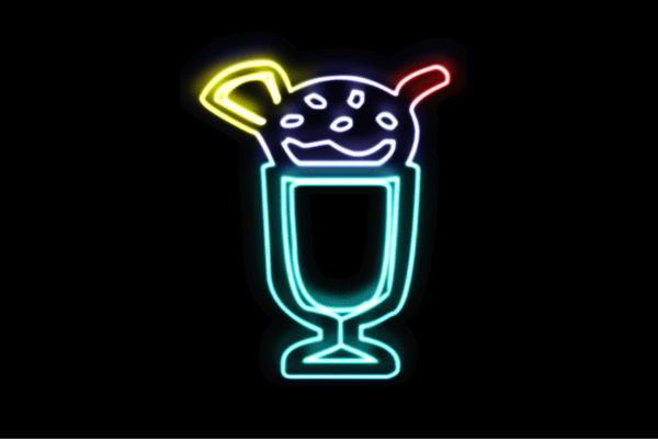 【ネオン】パフェ【10】【アイスクリーム】【ICE CREAM】【アイス】【アイコン】【デザート】【カフェ】【ネオンライト】【電飾】【LED】【ライト】【サイン】【neon】【看板】【イルミネーション】【インテリア】【店舗】【ネオンサイン】【アメリカン雑貨】