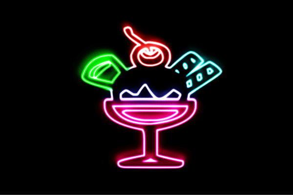 【ネオン】パフェ【12】【アイスクリーム】【ICE CREAM】【アイス】【アイコン】【デザート】【カフェ】【ネオンライト】【電飾】【LED】【ライト】【サイン】【neon】【看板】【イルミネーション】【インテリア】【店舗】【ネオンサイン】【アメリカン雑貨】