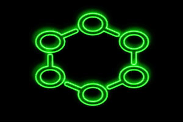【ネオン】原子【げんし】【科学】【science】【かがく】【サイエンス】【アイコン】【イラスト】【ネオンライト】【電飾】【LED】【ライト】【サイン】【neon】【看板】【イルミネーション】【インテリア】【店舗】【ネオンサイン】【アメリカン雑貨】