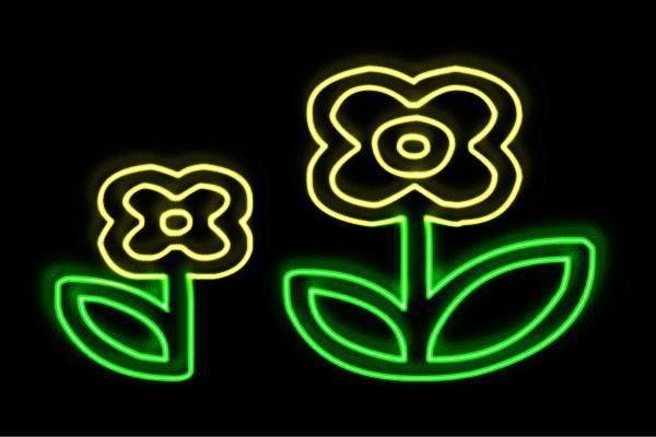 【ネオン】フラワー【3】【ふらわー】【花】【はな】【ハナ】【FLOWER】【お花】【ネオンライト】【電飾】【LED】【ライト】【サイン】【neon】【看板】【イルミネーション】【インテリア】【店舗】【ネオンサイン】【アメリカン雑貨】【かわいい】【おしゃれ】