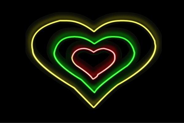 【ネオン】ハート【3】【はーと】【ハートマーク】【heart】【アイコン】【イラスト】【ネオンライト】【電飾】【LED】【ライト】【サイン】【neon】【看板】【イルミネーション】【インテリア】【店舗】【ネオンサイン】【アメリカン雑貨】【おしゃれ】【かわいい】