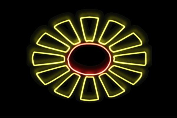 【ネオン】ひまわり【2】【ヒマワリ】【向日葵】【sunflower】【サンフラワー】【花】【はな】【お花】【イラスト】【ネオンライト】【電飾】【LED】【ライト】【サイン】【neon】【看板】【イルミネーション】【インテリア】【店舗】【ネオンサイン】【おしゃれ】