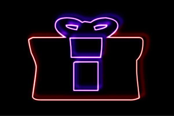 【ネオン】プレゼント【2】【リボン】【アイコン】【マーク】【記号】【ラッピング】【ネオンライト】【電飾】【LED】【ライト】【サイン】【neon】【看板】【イルミネーション】【インテリア】【店舗】【ネオンサイン】【アメリカン雑貨】【かわいい】【おしゃれ】