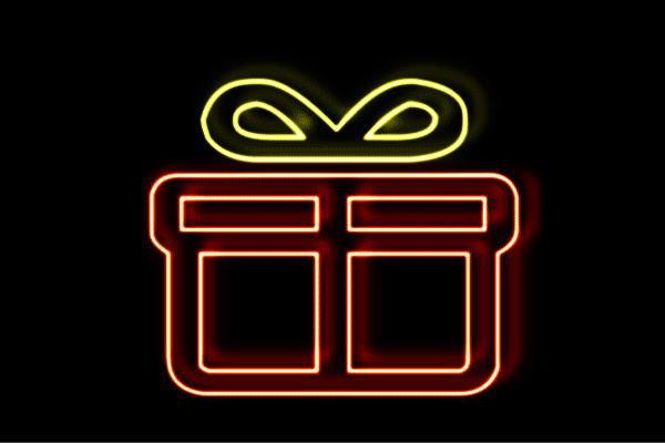 【ネオン】プレゼント【3】【リボン】【アイコン】【マーク】【記号】【ラッピング】【ネオンライト】【電飾】【LED】【ライト】【サイン】【neon】【看板】【イルミネーション】【インテリア】【店舗】【ネオンサイン】【アメリカン雑貨】【かわいい】【おしゃれ】
