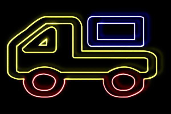 【ネオン】トラック【2】【TRACK】【車】【くるま】【クルマ】【カー】【乗り物】【イラスト】【ネオンライト】【電飾】【LED】【ライト】【サイン】【neon】【看板】【イルミネーション】【インテリア】【店舗】【ネオンサイン】【アメリカン雑貨】【かわいい】