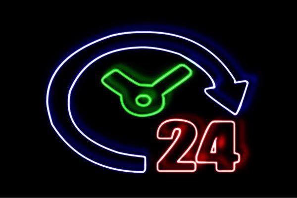 【ネオン】年中無休【24時間】【時間】【無休】【年中】【営業】【イラスト】【ネオンライト】【電飾】【LED】【ライト】【サイン】【neon】【看板】【イルミネーション】【インテリア】【店舗】【ネオンサイン】【アメリカン雑貨】【おしゃれ】【かわいい】
