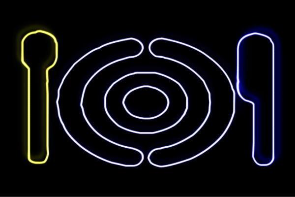 【ネオン】食器【お皿】【皿】【フォーク】【ナイフ】【さら】【レストラン】【アイコン】【ネオンライト】【電飾】【LED】【ライト】【サイン】【neon】【看板】【イルミネーション】【インテリア】【店舗】【ネオンサイン】【アメリカン雑貨】【かわいい】【おしゃれ】