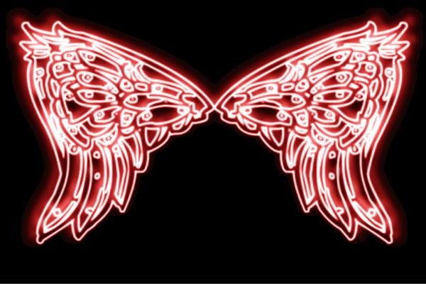 【ネオン】ウイング【2】【羽】【翼】【はね】【つばさ】【WING】【フェザー】【天使】【ネオンライト】【電飾】【LED】【ライト】【サイン】【neon】【看板】【イルミネーション】【インテリア】【店舗】【ネオンサイン】【アメリカン雑貨】【おしゃれ】