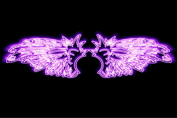 【ネオン】ウイング【23】【羽】【翼】【はね】【つばさ】【WING】【フェザー】【天使】【ネオンライト】【電飾】【LED】【ライト】【サイン】【neon】【看板】【イルミネーション】【インテリア】【店舗】【ネオンサイン】【アメリカン雑貨】【おしゃれ】