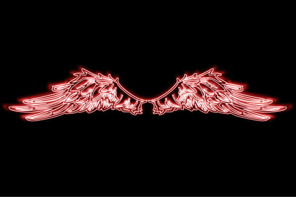 【ネオン】ウイング【25】【羽】【翼】【はね】【つばさ】【WING】【フェザー】【天使】【ネオンライト】【電飾】【LED】【ライト】【サイン】【neon】【看板】【イルミネーション】【インテリア】【店舗】【ネオンサイン】【アメリカン雑貨】【おしゃれ】