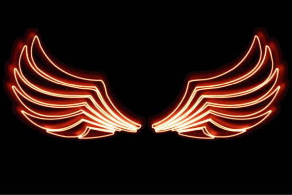 【ネオン】ウイング【54】【羽】【翼】【はね】【つばさ】【WING】【フェザー】【天使】【ネオンライト】【電飾】【LED】【ライト】【サイン】【neon】【看板】【イルミネーション】【インテリア】【店舗】【ネオンサイン】【アメリカン雑貨】【おしゃれ】