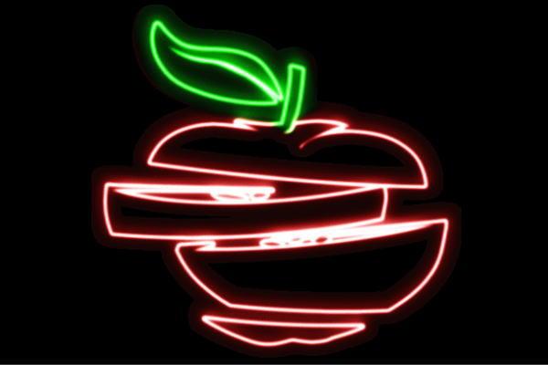 【ネオン】りんご【3】【リンゴ】【林檎】【果物】【フルーツ】【くだもの】【BAR】【バー】【ネオンライト】【電飾】【LED】【ライト】【サイン】【neon】【看板】【イルミネーション】【インテリア】【店舗】【ネオンサイン】【アメリカン雑貨】【かわいい】