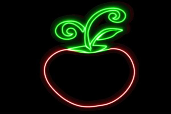【ネオン】りんご【4】【リンゴ】【林檎】【果物】【フルーツ】【くだもの】【BAR】【バー】【ネオンライト】【電飾】【LED】【ライト】【サイン】【neon】【看板】【イルミネーション】【インテリア】【店舗】【ネオンサイン】【アメリカン雑貨】【かわいい】