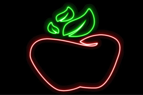 【ネオン】りんご【5】【リンゴ】【林檎】【果物】【フルーツ】【くだもの】【BAR】【バー】【ネオンライト】【電飾】【LED】【ライト】【サイン】【neon】【看板】【イルミネーション】【インテリア】【店舗】【ネオンサイン】【アメリカン雑貨】【かわいい】