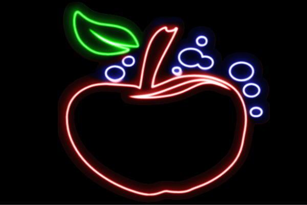 【ネオン】りんご【6】【リンゴ】【林檎】【アップル】【果物】【フルーツ】【くだもの】【BAR】【バー】【ネオンライト】【電飾】【LED】【ライト】【サイン】【neon】【看板】【イルミネーション】【インテリア】【店舗】【ネオンサイン】【アメリカン雑貨】