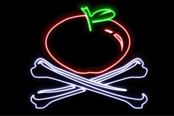 【ネオン】りんご海賊旗【APPLE】【リンゴ】【林檎】【アップル】【果物】【フルーツ】【くだもの】【海賊旗】【海賊】【ネオンライト】【電飾】【LED】【ライト】【サイン】【neon】【看板】【イルミネーション】【インテリア】【店舗】【ネオンサイン】