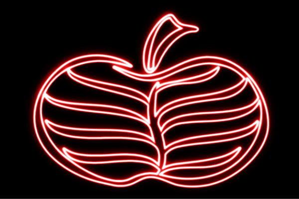 【ネオン】りんご【18】【APPLE】【リンゴ】【林檎】【アップル】【果物】【フルーツ】【くだもの】【BAR】【バー】【ネオンライト】【電飾】【LED】【ライト】【サイン】【neon】【看板】【イルミネーション】【インテリア】【店舗】【ネオンサイン】【アメリカン雑貨】