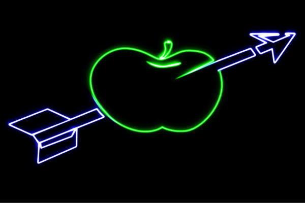 【ネオン】りんごと矢【3】【矢】【APPLE】【リンゴ】【林檎】【アップル】【果物】【フルーツ】【くだもの】【BAR】【バー】【ネオンライト】【電飾】【LED】【ライト】【サイン】【neon】【看板】【イルミネーション】【インテリア】【店舗】【ネオンサイン】
