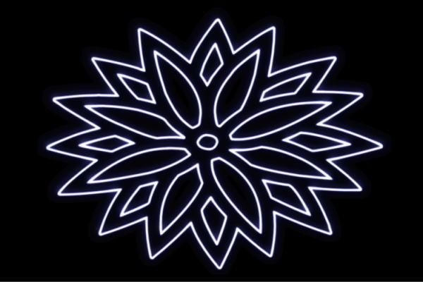 【ネオン】花【6】【家紋】【ふらわー】【フラワー】【はな】【ハナ】【FLOWER】【お花】【ネオンライト】【電飾】【LED】【ライト】【サイン】【neon】【看板】【イルミネーション】【インテリア】【店舗】【ネオンサイン】【アメリカン雑貨】【かわいい】【おしゃれ】