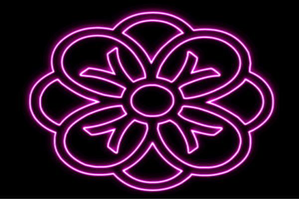 【ネオン】花【7】【家紋】【ふらわー】【フラワー】【はな】【ハナ】【FLOWER】【お花】【ネオンライト】【電飾】【LED】【ライト】【サイン】【neon】【看板】【イルミネーション】【インテリア】【店舗】【ネオンサイン】【アメリカン雑貨】【かわいい】【おしゃれ】