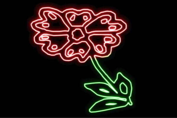 【ネオン】花【32】【ふらわー】【フラワー】【はな】【ハナ】【FLOWER】【お花】【ネオンライト】【電飾】【LED】【ライト】【サイン】【neon】【看板】【イルミネーション】【インテリア】【店舗】【ネオンサイン】【アメリカン雑貨】【かわいい】【おしゃれ】