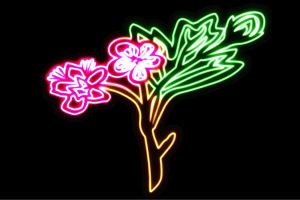 【ネオン】花【34】【ふらわー】【フラワー】【はな】【ハナ】【FLOWER】【お花】【ネオンライト】【電飾】【LED】【ライト】【サイン】【neon】【看板】【イルミネーション】【インテリア】【店舗】【ネオンサイン】【アメリカン雑貨】【かわいい】【おしゃれ】