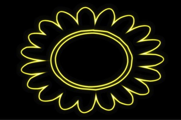 【ネオン】ひまわり【9】【ヒマワリ】【向日葵】【sunflower】【サンフラワー】【花】【はな】【お花】【イラスト】【ネオンライト】【電飾】【LED】【ライト】【サイン】【neon】【看板】【イルミネーション】【インテリア】【店舗】【ネオンサイン】【おしゃれ】
