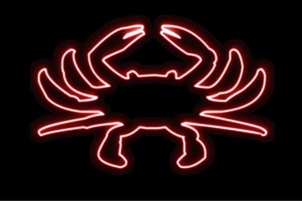 【ネオン】カニ【4】【かに】【蟹】【海】【クラブ】【動物】【アニマル】【夏】【サマー】【ネオンライト】【電飾】【LED】【ライト】【サイン】【neon】【看板】【イルミネーション】【インテリア】【店舗】【ネオンサイン】【アメリカン雑貨】【おしゃれ】【かわいい】