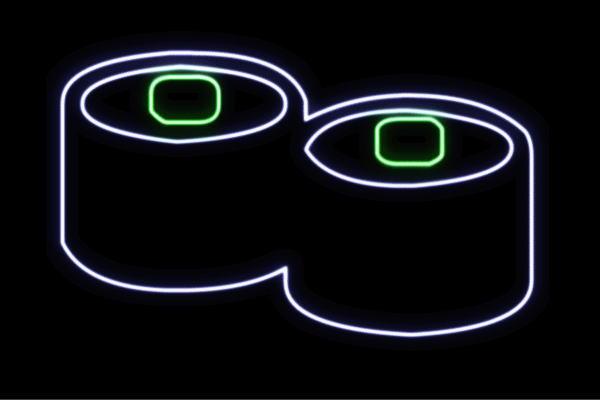 【ネオン】かっぱまき【2】【キュウリ】【お寿司】【寿司】【おすし】【すし】【鮨】【スシ】【軍艦巻き】【軍艦】【巻物】【ネオンライト】【電飾】【LED】【ライト】【サイン】【neon】【看板】【イルミネーション】【インテリア】【店舗】【ネオンサイン】