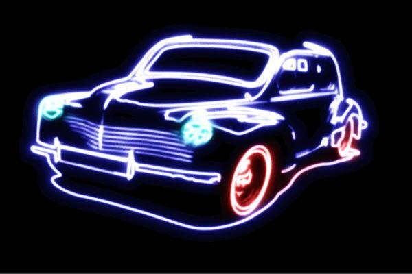 【ネオン】車【45】【くるま】【クルマ】【カー】【CAR】【自動車】【ディーラー】【アメ車】【外車】【ネオンライト】【電飾】【LED】【ライト】【サイン】【neon】【看板】【イルミネーション】【インテリア】【店舗】【ネオンサイン】【アメリカン雑貨】