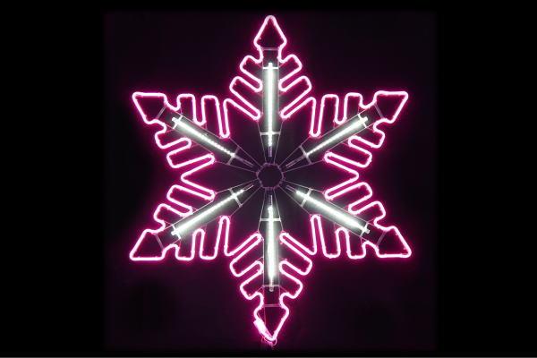 【ネオン】【イルミネーション】フロージェイド【ピンク】【クリスタル】【雪】【結晶】【スノー】【フレーク】【LED】【ネオンライト】【ライト】【サイン】【neon】【ネオンサイン】【電飾】【電飾看板】【看板】【光】【モチーフ】【クリスマス】【かわいい】