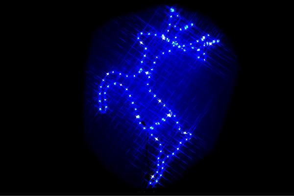 【イルミネーション】2Dトナカイ【ブルー】【トナカイ】【動物】【アニマル】【ライト】【LED】【2D】【装飾】【飾り】【アート】【輝き】【電飾】【モチーフ】【イルミ】【クリスマス】