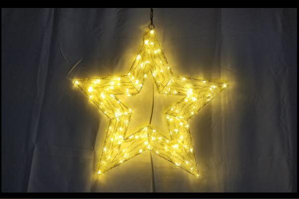 【イルミネーション】クリスタルグロースター【シャンパンゴールド】【スター】【星】【ほし】【クリスタル】【グロー】【ライト】【LED】【2D】【装飾】【飾り】【アート】【輝き】【電飾】【モチーフ】【イルミ】【クリスマス】
