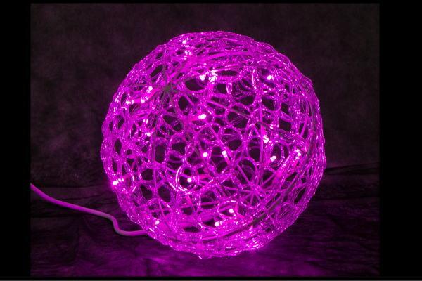 【イルミネーション】クリスタルグローボール【ピンク】【30cm】【ボール】【ぼーる】【球】【ライト】【LED】【3D】【装飾】【飾り】【アート】【輝き】【電飾】【モチーフ】【イルミ】【クリスタル】【グロー】【クリスマス】