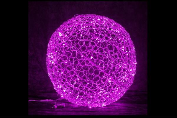 【イルミネーション】クリスタルグローボール【ピンク】【60cm】【ボール】【ぼーる】【球】【ライト】【LED】【3D】【装飾】【飾り】【アート】【輝き】【電飾】【モチーフ】【イルミ】【クリスタル】【グロー】【クリスマス】