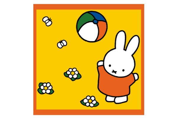 miffy ミッフィー 湯上げタオル 楽しいボールあそび ウサギ ミッフィーちゃん キャラ たおる タオル 割引も実施中 ナインチェ プラウス 絵本 レビューを書けば送料当店負担 大人気 送料無料