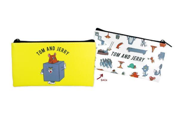 トムとジェリー フラットペンポーチ ファニーアート アップ トム ジェリー ワーナー アニメ ねこ ネズミ ねずみ かわいい 学校 ペンケース ネコ 文房具 メーカー再生品 ポーチ 雑貨 出群 筆箱 グッズ