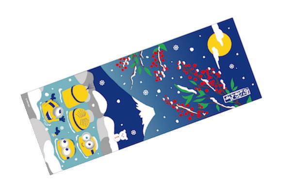 日本製 ミニオンズ 新品未使用 手ぬぐい 雪見温泉とミニオンズ ミニオン ユニバーサル ユニバーサルスタジオ ユニバ 映画 たおる 雑貨 かわいい タオル 海外輸入 グッズ 生活雑貨 雑 アニメ